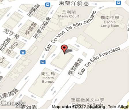 마카오 의료기관 지도
